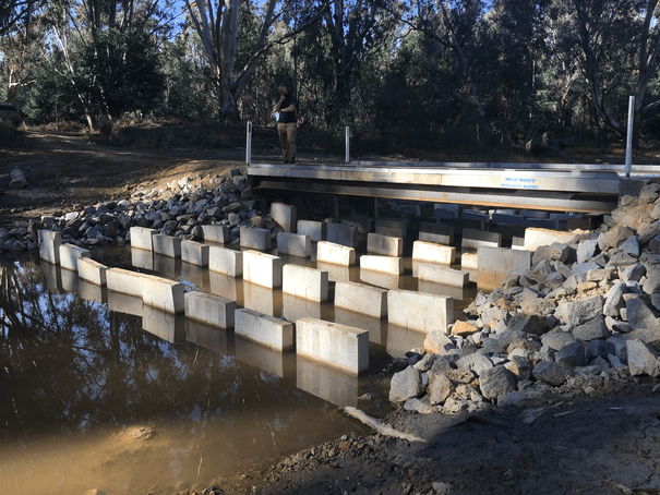 Frost Crossing fishway after construction